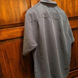 Alfani Shirts - Alfani Men's Large Button Down Short Sleeve Blue